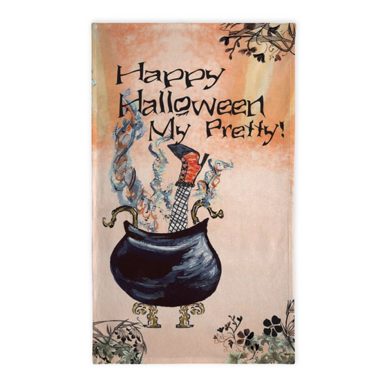 Happy Halloween My Pretty Tea Towel - Tea Towel - Dreams After All