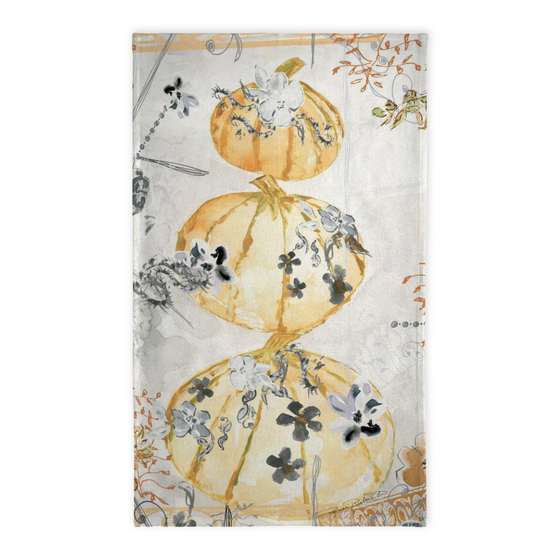 Stacking Pumpkins Halloween Tea Towel - Tea Towel - Dreams After All