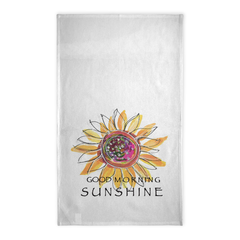 Good Morning Sunshine Tea Towel - Tea Towel - Dreams After All
