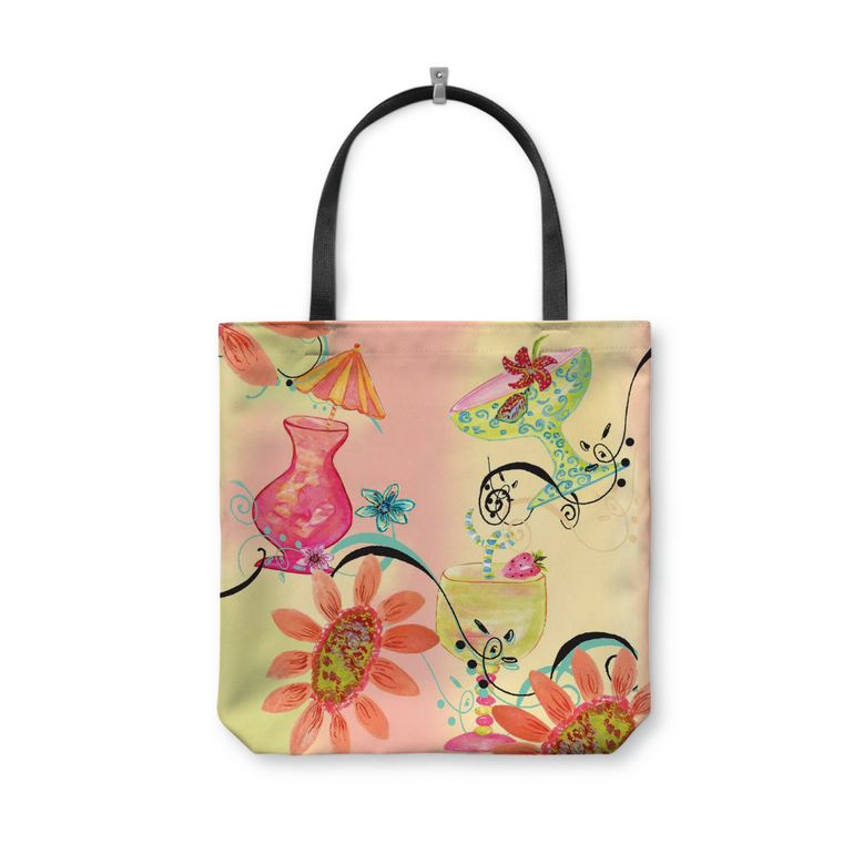 Five O'Clock Somewhere Tote Bag With Woven Handles - Dreams After All