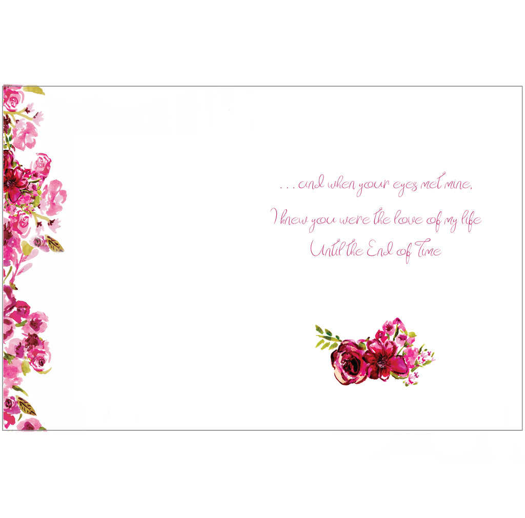 End of Time Love Poem Greeting Card by Renée Rubach Love and Valentine's Day
