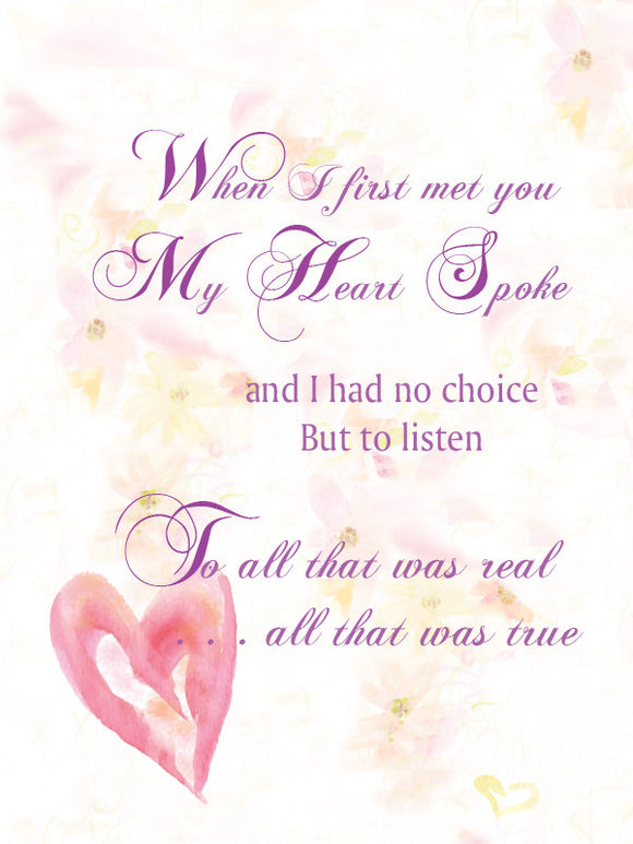 My Heart Spoke (Valentine's Day & Love and Romance) - Greeting Card - Dreams After All