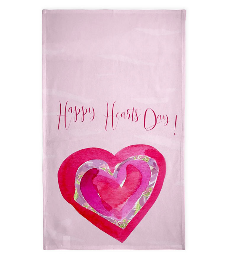 Happy Hearts Day Tea Towel for Valentine's Day! - Tea Towel - Dreams After All