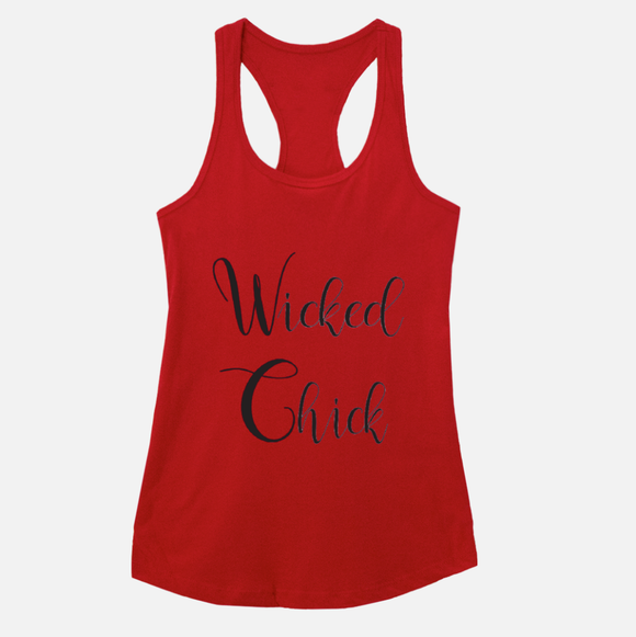 Wicked Chick Red Racerback Tank