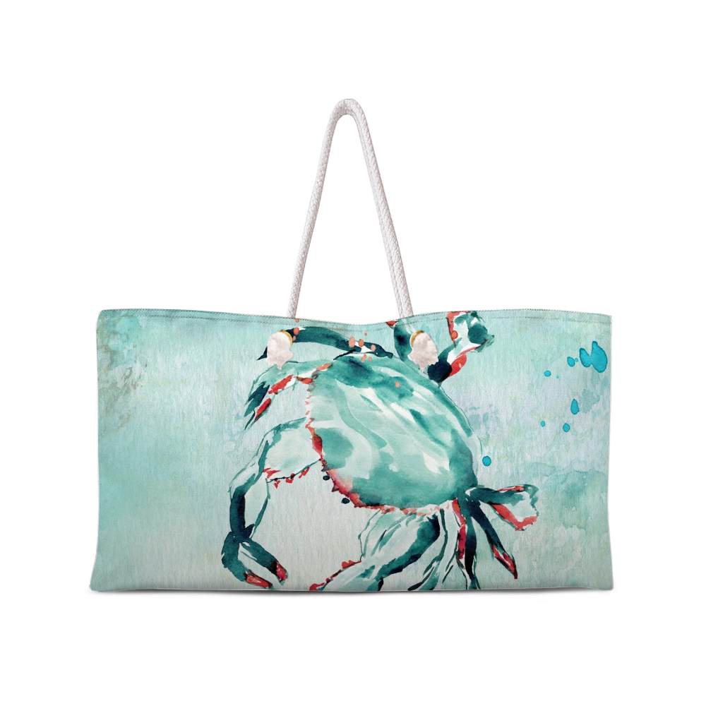 Crab Ocean Weekend Tote with Rope Handles - totes - Dreams After All