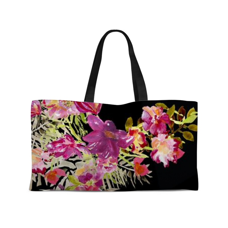 Renée Weekender Tote with Woven Handles - totes - Dreams After All