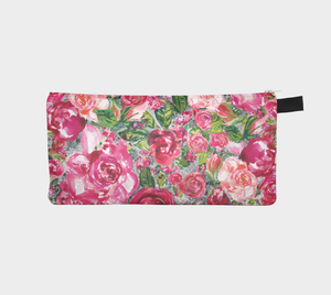 Love and Roses Small Accessory Pouch