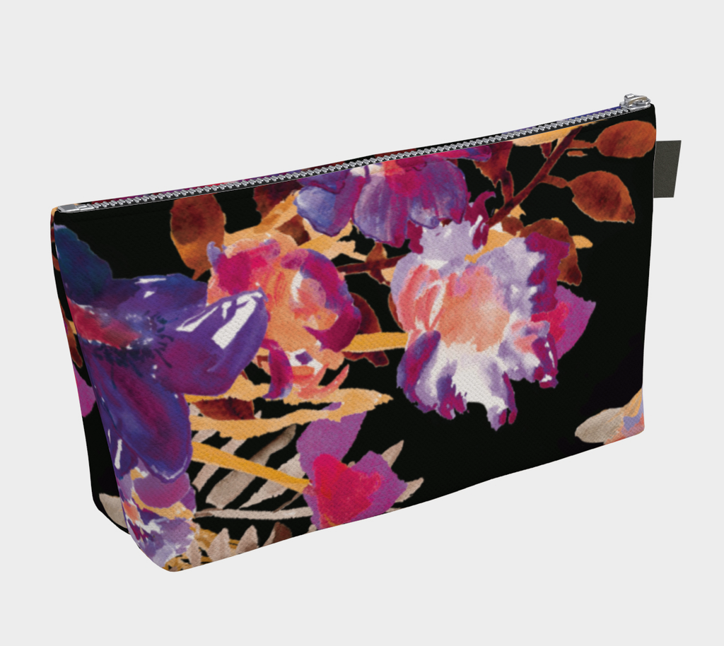 Renée Purple Orange Makeup Bag