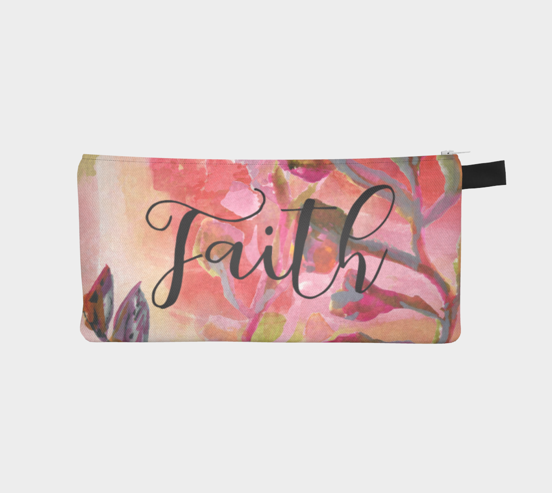 Faith and Courage Small Accessory Pouch