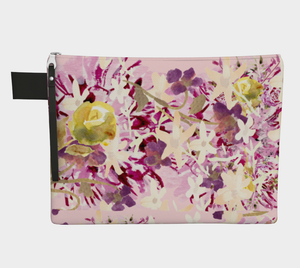 Dahlilah Lavender Cosmetic Bag Flat - Dreams After All