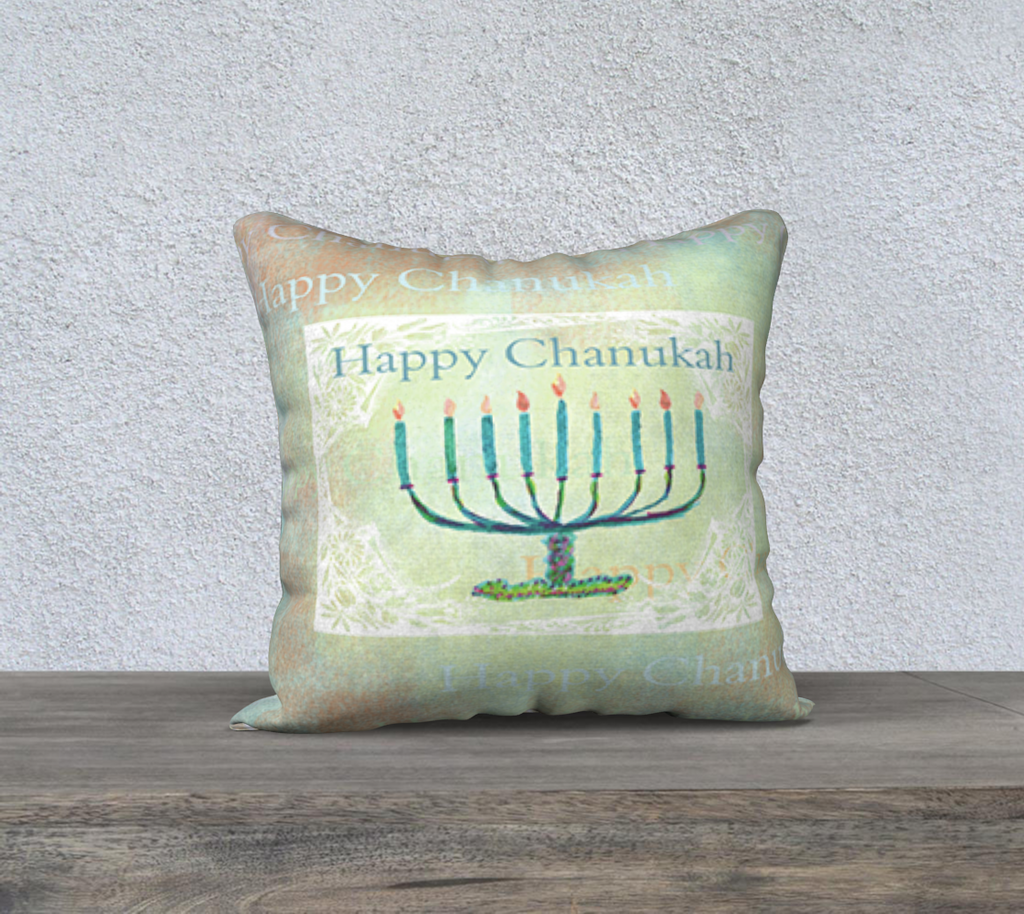 "CHANUKAH 18"" X 18"" PILLOW Case - Dreams After All"