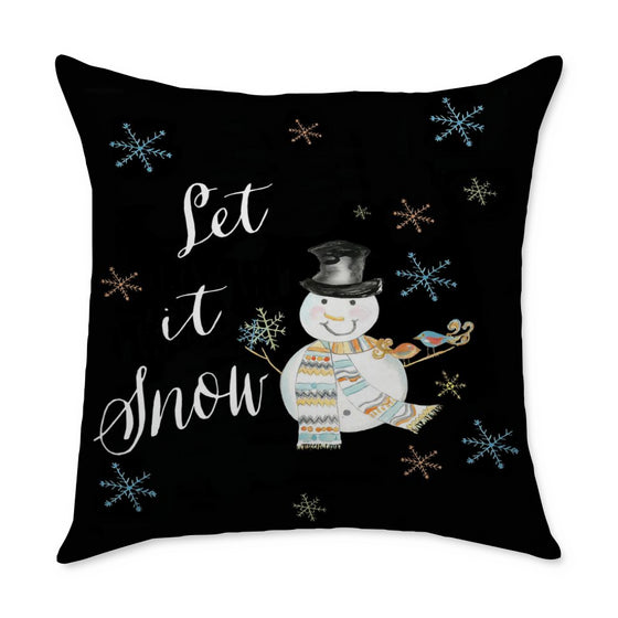 Let It Snow Square Throw Pillow - COVER ONLY