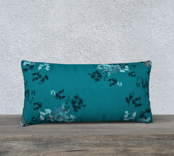 "Turquoise Dark 24"" X 12"" Pillow Case - Dreams After All"