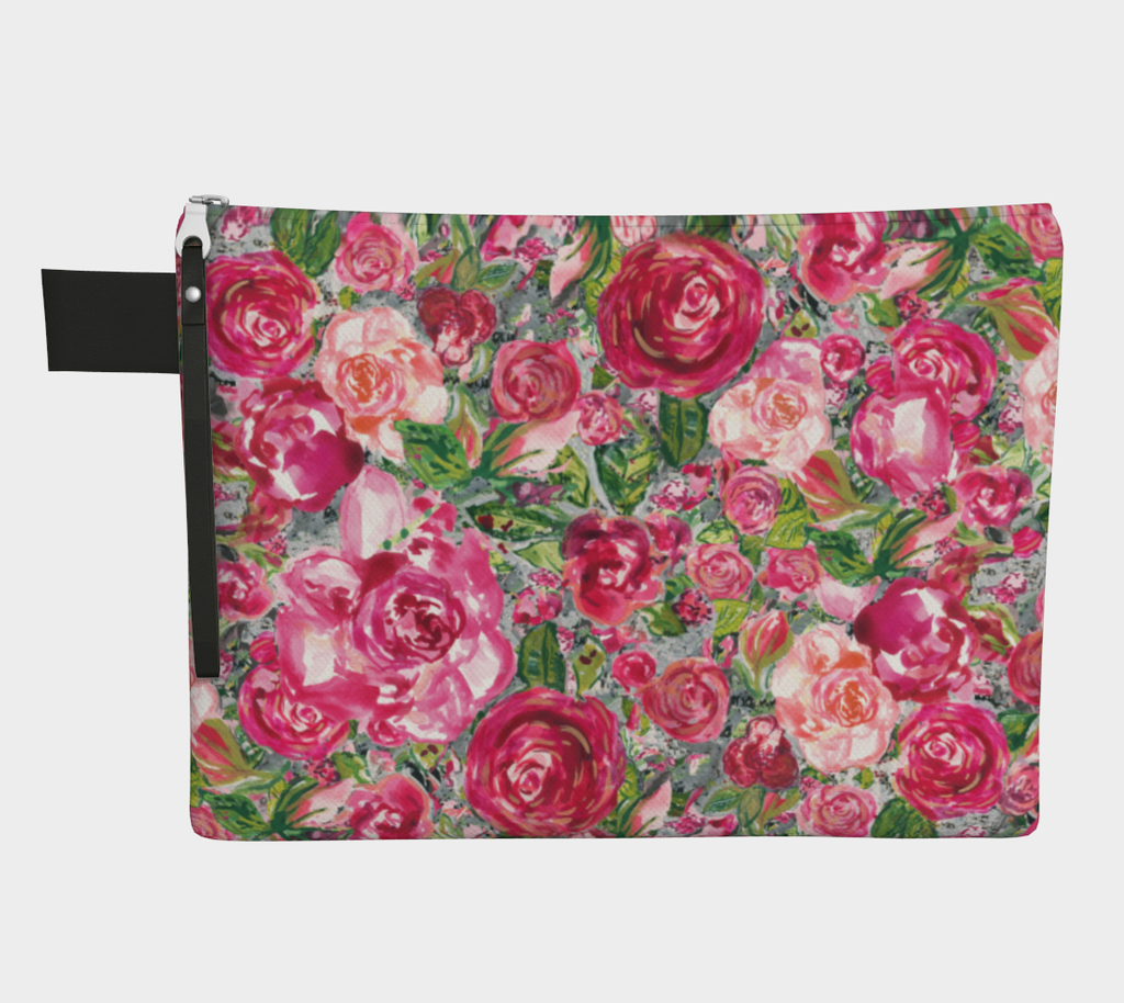 Love and Roses Zipper Carry-All