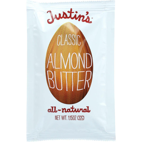 Justins Nut Butter Almond Butter - Classic - Squeeze Pack - 1.15 Oz - Case Of 60 - exploreLOHAS