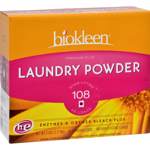Biokleen Laundry Powder Premium Plus Stain Lifting Enzyme Formula - 5 Lbs - exploreLOHAS