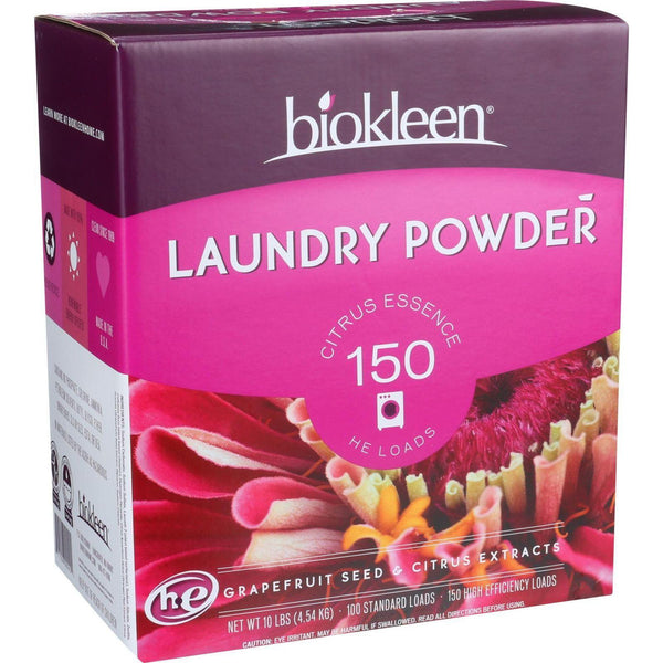 Biokleen Laundry Powder - Citrus Essence - 10 Lb - exploreLOHAS