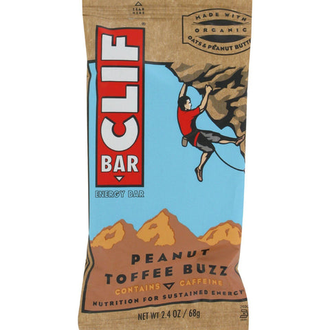 Clif Bar - Organic Peanut Toffee Buzz - Case Of 12 - 2.4 Oz - exploreLOHAS