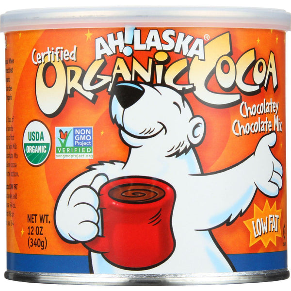 Ahlaska Cocoa Mix - Organic - Chocolatey Chocolate - Low Fat - 12 Oz - Case Of 12 - exploreLOHAS