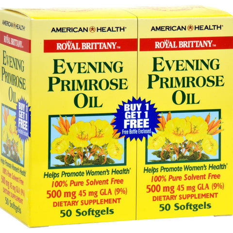 American Health Royal Brittany Evening Primrose Oil Twin Pack - 500 Mg - 50+50 Softgels - exploreLOHAS
