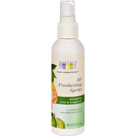 Aura Cacia Air Freshening Spritz Lime And Grapefruit - 6 Fl Oz - exploreLOHAS