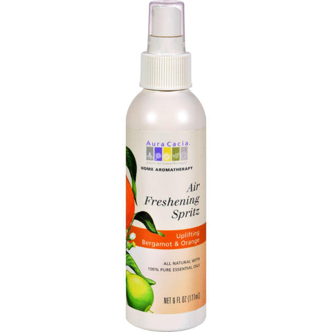 Aura Cacia Air Freshening Spritz Bergamot And Orange - 6 Fl Oz - exploreLOHAS