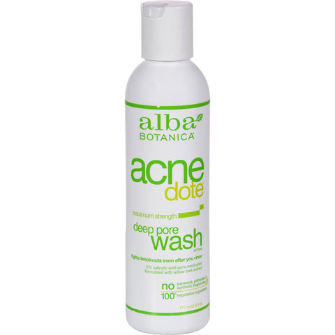 Alba Botanica Natural Acnedote Deep Pore Wash - 6 Fl Oz - exploreLOHAS