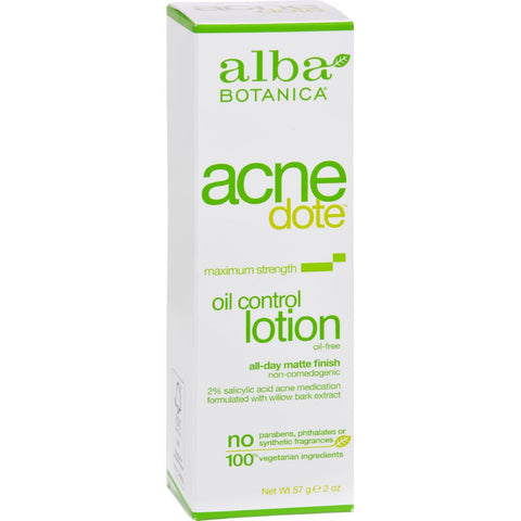 Alba Botanica Natural Acnedote Oil Control Lotion - 2 Fl Oz - exploreLOHAS