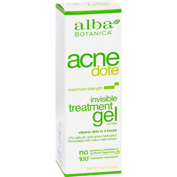Alba Botanica Natural Acnedote Invisible Treatment Gel - 0.5 Oz - exploreLOHAS