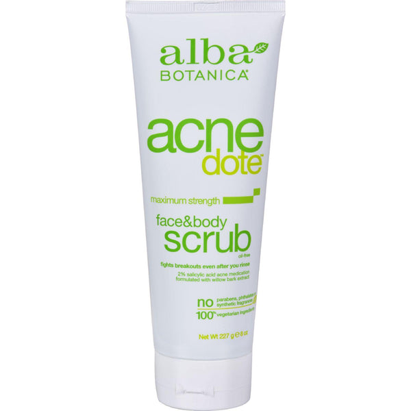 Alba Botanica Natural Acnedote Face And Body Scrub - 8 Fl Oz - exploreLOHAS