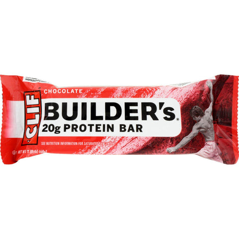 Clif Bar Builder Bar - Chocolate - Case Of 12 - 2.4 Oz - exploreLOHAS