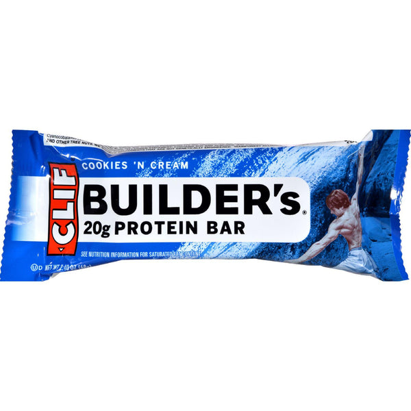 Clif Bar Builder Bar - Cookies And Cream - Case Of 12 - 2.4 Oz - exploreLOHAS