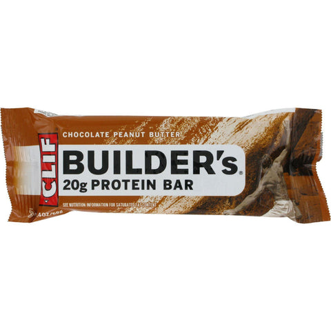 Clif Bar Builder Bar - Chocolate Peanut Butter - Case Of 12 - 2.4 Oz - exploreLOHAS