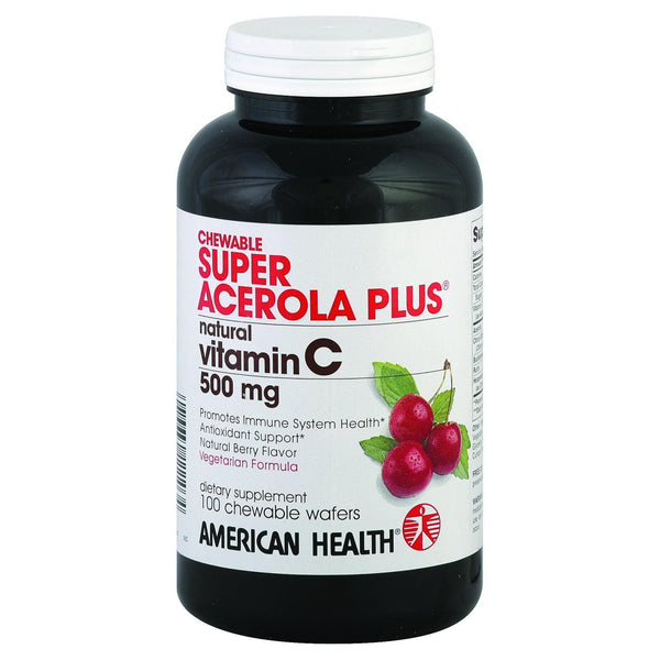 American Health Super Acerola Plus - 500 Mg - 100 Chewable Wafers - exploreLOHAS