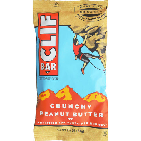 Clif Bar - Organic Crunch Peanut Butter - Case Of 12 - 2.4 Oz - exploreLOHAS