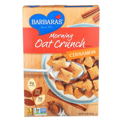 Barbara's Bakery Morning Oat Crunch Cereal - Cinnamon - Case Of 6 - 14 Oz. - exploreLOHAS