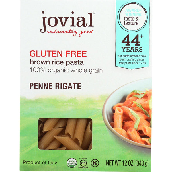 Jovial Pasta - Organic - Brown Rice - Penne Rigate - 12 Oz - Case Of 12 - exploreLOHAS