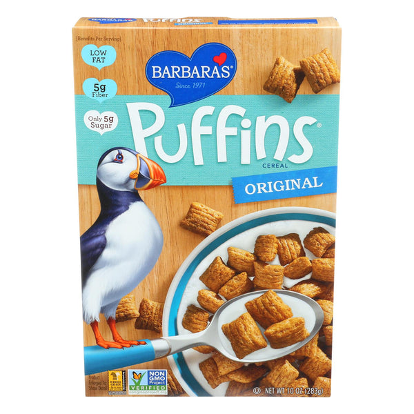 Barbara's Bakery Puffins Cereal - Original - Case Of 12 - 10 Oz. - exploreLOHAS