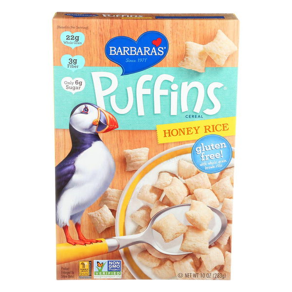 Barbara's Bakery Puffins Cereal - Honey Rice - Case Of 12 - 10 Oz. - exploreLOHAS