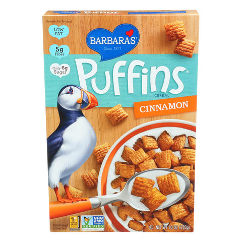 Barbara's Bakery Puffins Cereal - Cinnamon - Case Of 12 - 10 Oz. - exploreLOHAS