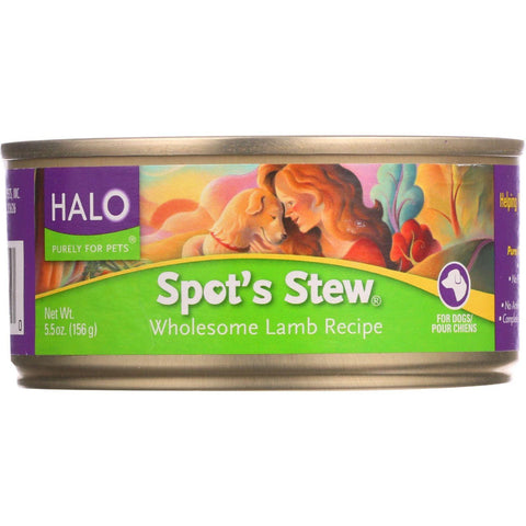Halo Purely For Pets Dog Food - Spots Stew - Wholesome Lamb - 5.5 Oz - Case Of 12 - exploreLOHAS