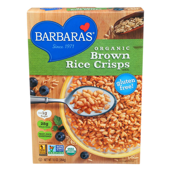 Barbara's Bakery Brown Rice Crisps - Fruit Juice Sweetened Cereal - Case Of 6 - 10 Oz. - exploreLOHAS