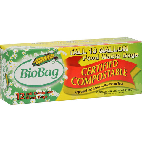 Biobag 13 Gallon Tall Food Waste Bags - Case Of 12 - 12 Count - exploreLOHAS
