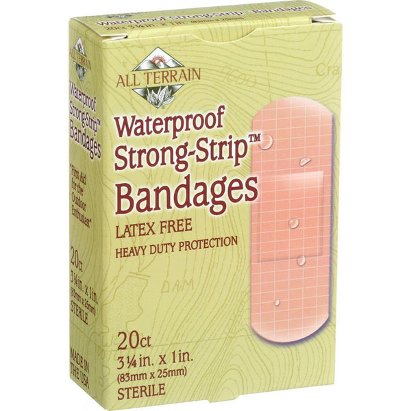 All Terrain Bandages - Waterproof Strong Strip 1 Inch - 20 Count - exploreLOHAS
