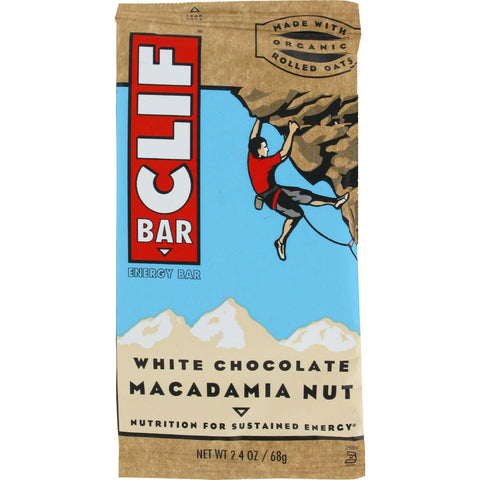 Clif Bar - Organic White Chocolate Macadamia Nut - Case Of 12 - 2.4 Oz - exploreLOHAS