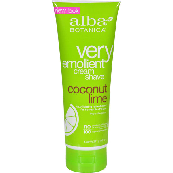 Alba Botanica Moisturizing Cream Shave For Men And Women Coconut Lime - 8 Fl Oz - exploreLOHAS