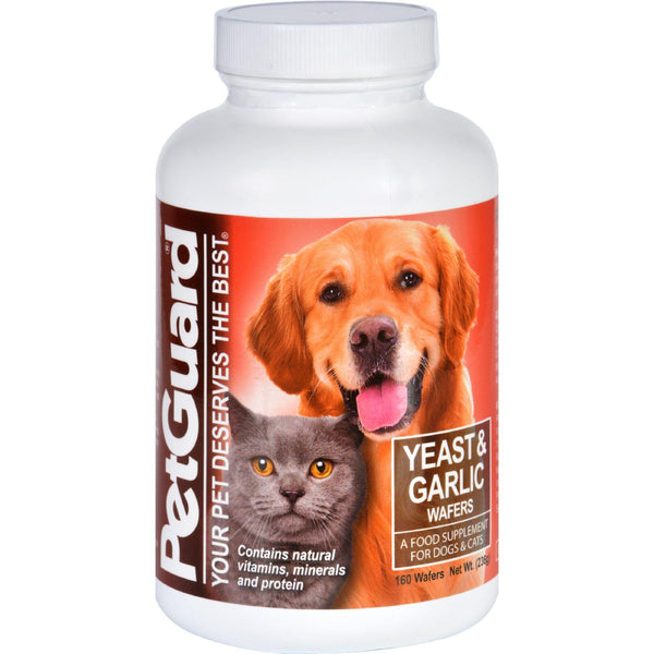 Petguard Yeast And Garlic - 160 Wafers - exploreLOHAS