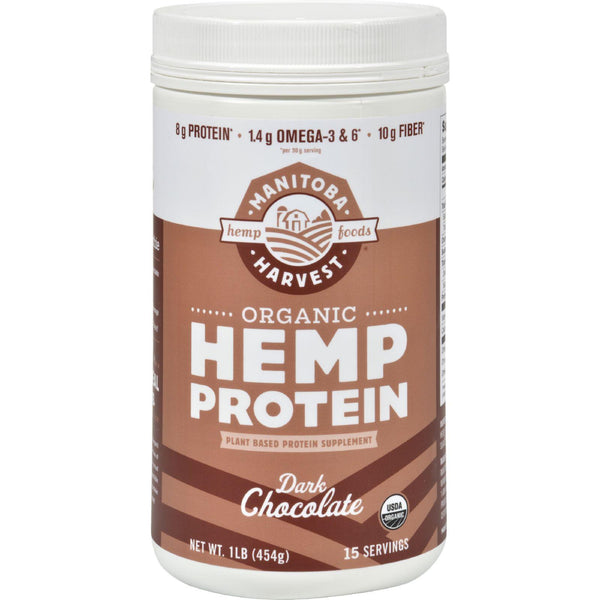 Manitoba Harvest Organic Hemp Protein Dark Chocolate - 16 Oz - exploreLOHAS