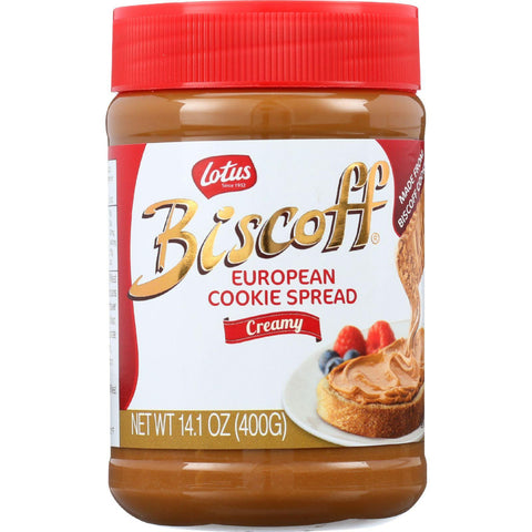Biscoff Cookie Butter Spread - Peanut Butter Alternative - 13.4 Oz - Case Of 8 - exploreLOHAS