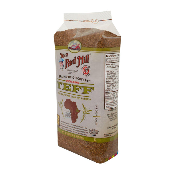 Bob's Red Mill Whole Grain Teff - 24 Oz - Case Of 4 - exploreLOHAS